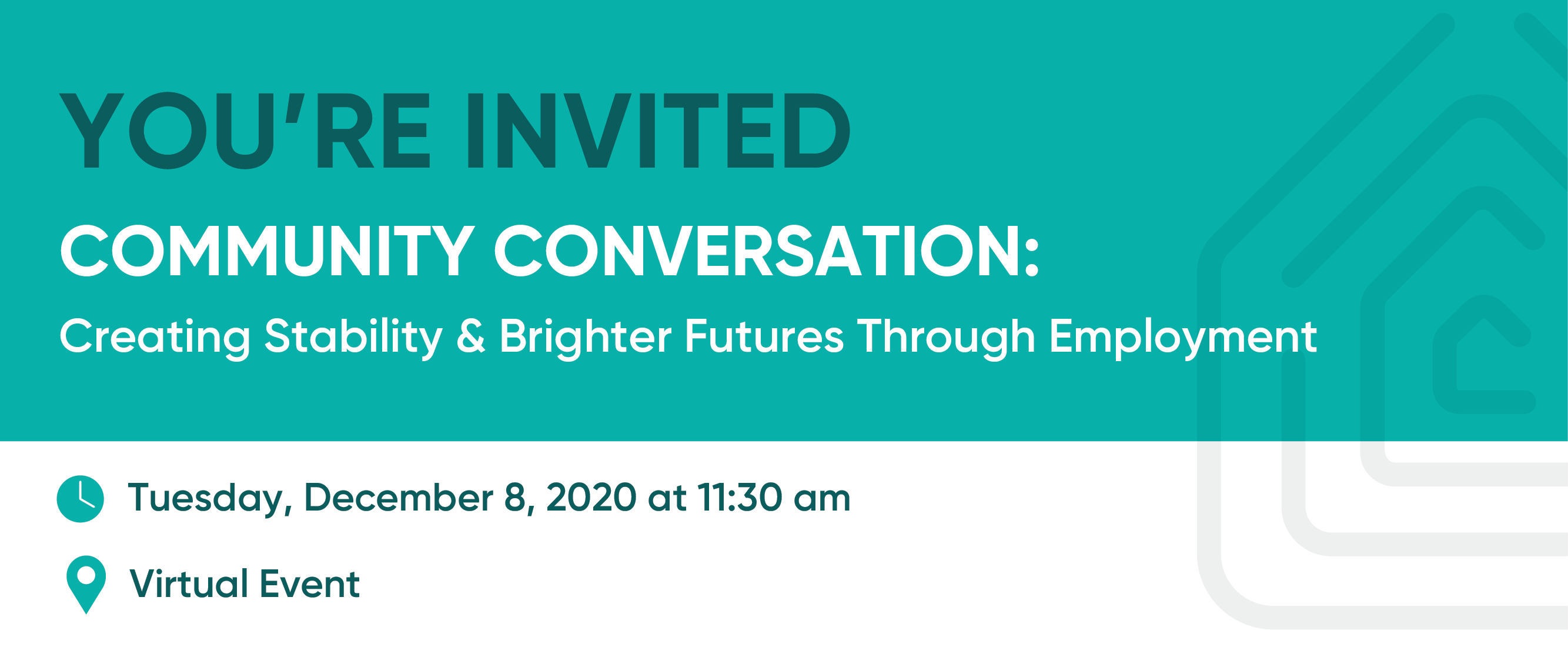 Community Conversation: Creating Stability & Brighter Futures Through Employment